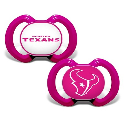 NFL Houston Texans Pink Pacifiers 2pk