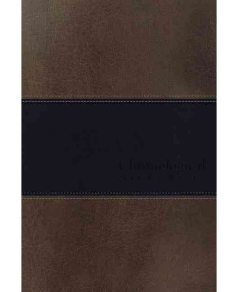 Chronological Study Bible : New King James Version, Stone /Blue Leathersoft (Paperback) - image 1 of 1