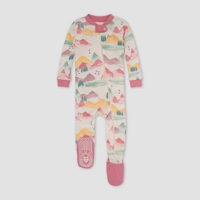 Burt's Bees Baby® Baby Girls' Mountains Snug Fit Footed Pajama - Heather Gray 3-6M