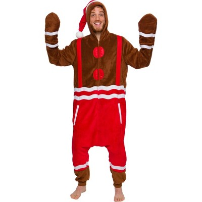 Funziez! Holiday Gingerbread Man Men's Novelty Union Suit