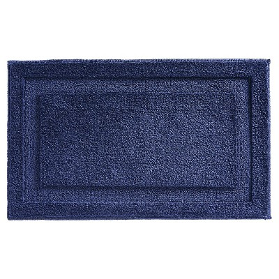 Microfiber Bathroom Shower Accent Rug - Navy - 34  x 21  - InterDesign