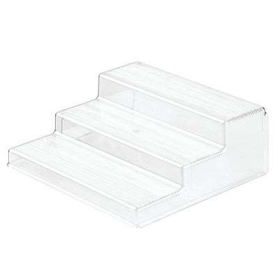 InterDesign Linus Plastic Spice Rack 3-Tier Organizer Clear