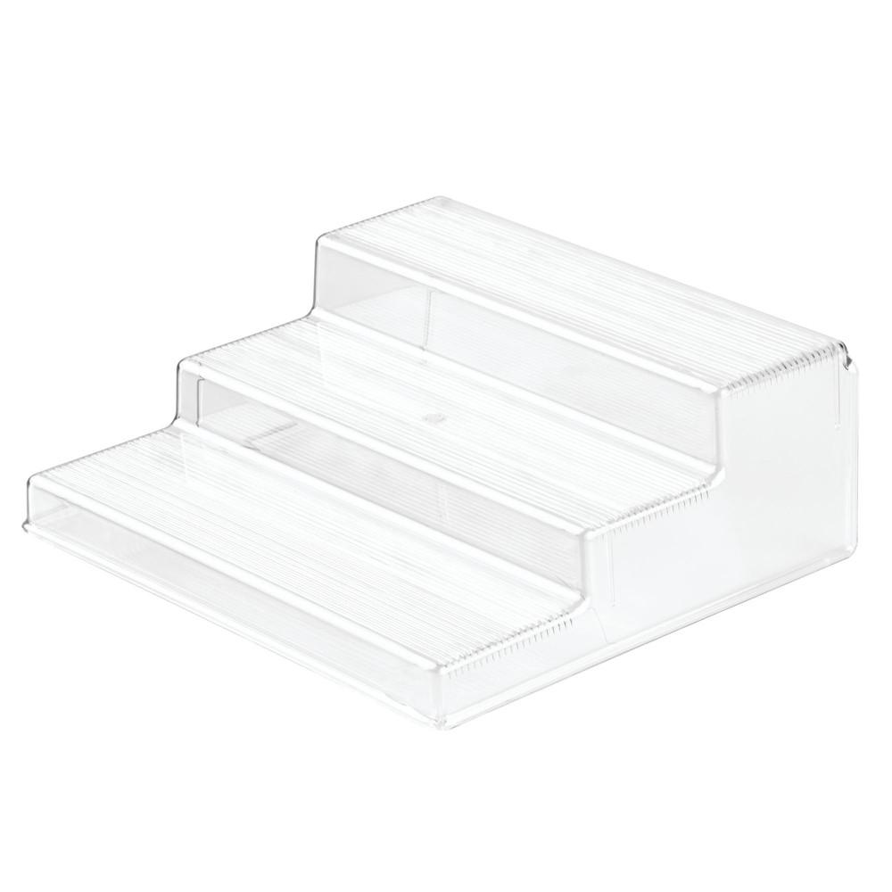 InterDesign Linus Plastic Spice Rack 3-Tier Organizer Clear