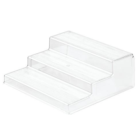 InterDesign Linus Plastic Spice Rack 3-Tier Organizer Clear - image 1 of 4