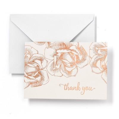 Notecard Box 40ct Gartner Thank You
