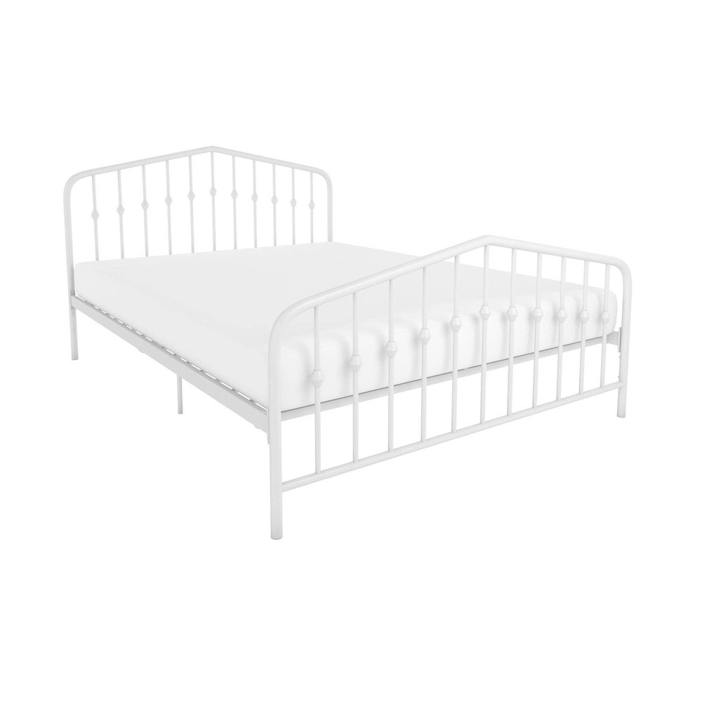 Image of Full Bushwick Metal Bed White - Novogratz