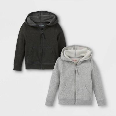 Toddler Girls' 2pk Fleece Pullover Sweatshirt - Cat & Jack™ Gray/Black
