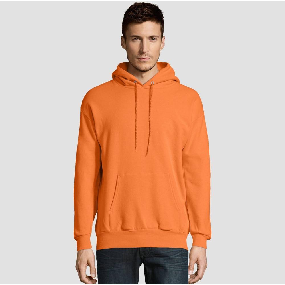 Hanes Men 39 S Big 38 Tall Ecosmart Fleece Pullover Hooded Sweatshirt Light Orange 5xl