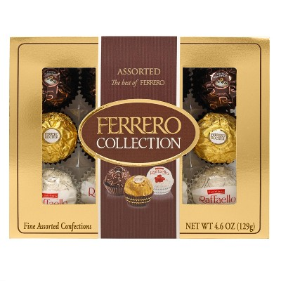 Ferrero Rocher Collection Assorted Chocolates Variety Pack - 4.6oz