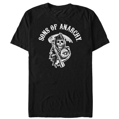 Men's Sons of Anarchy Classic Grim Reaper Patch T-Shirt