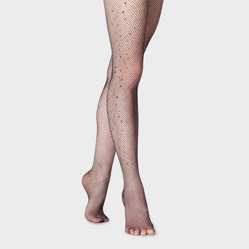 Women's Jewel Fishnet Tights - A New Day™ Black - image 1 of 2