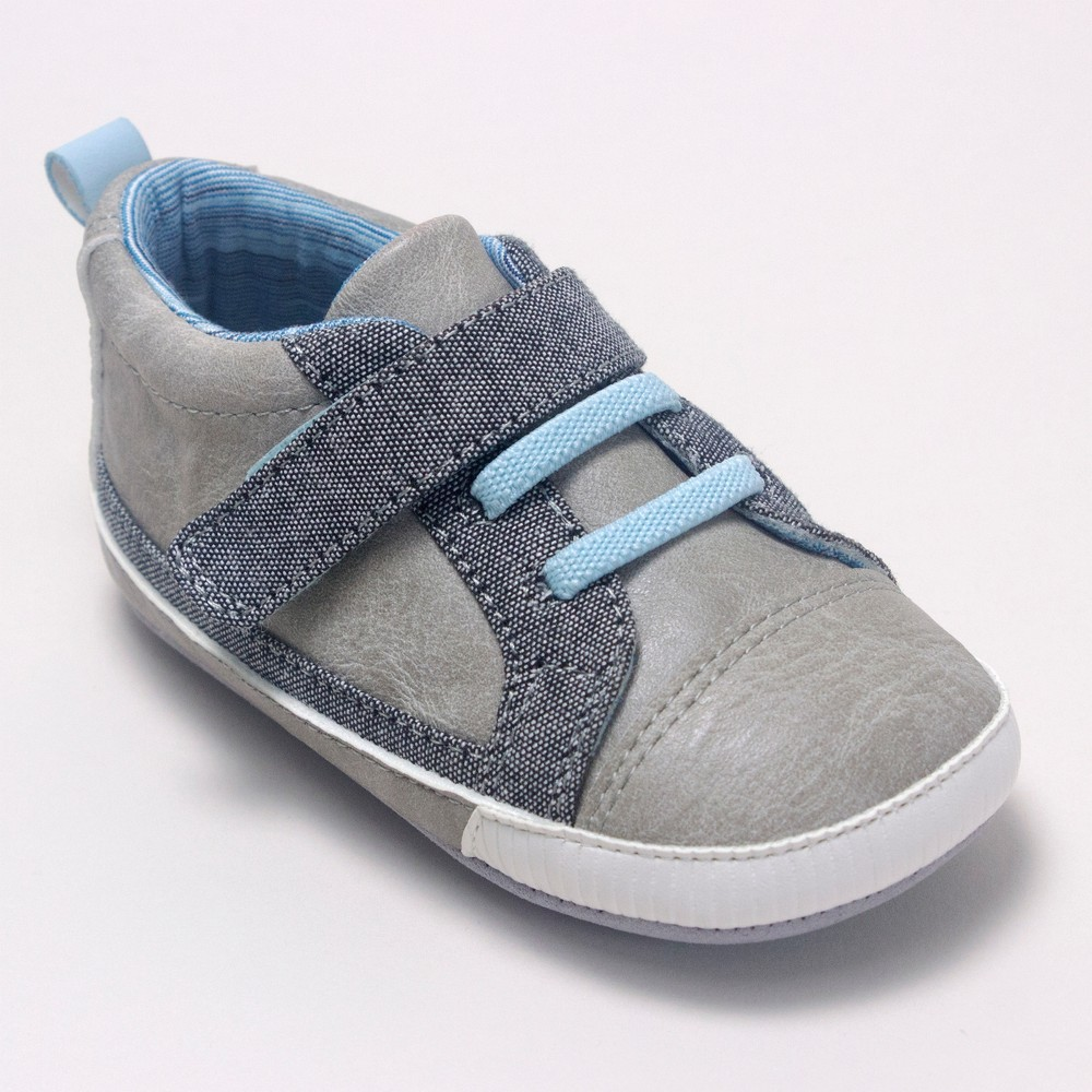 Image of Baby Boys' Ro+Me by Robeez Parker Casual Shoes - Gray 0-6M, Kids Unisex