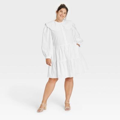 Women's Long Sleeve Shirtdress - A New Day™