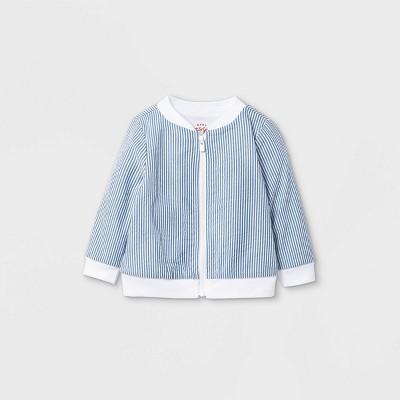 Baby Seersucker Bomber Jacket - Cat & Jack™ Blue