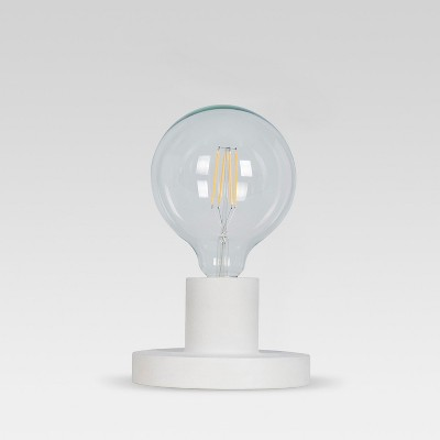 Industrial Metal Sconce / Sit Lamp White (Includes Energy Efficient Light Bulb)- Project 62™ + Leanne Ford