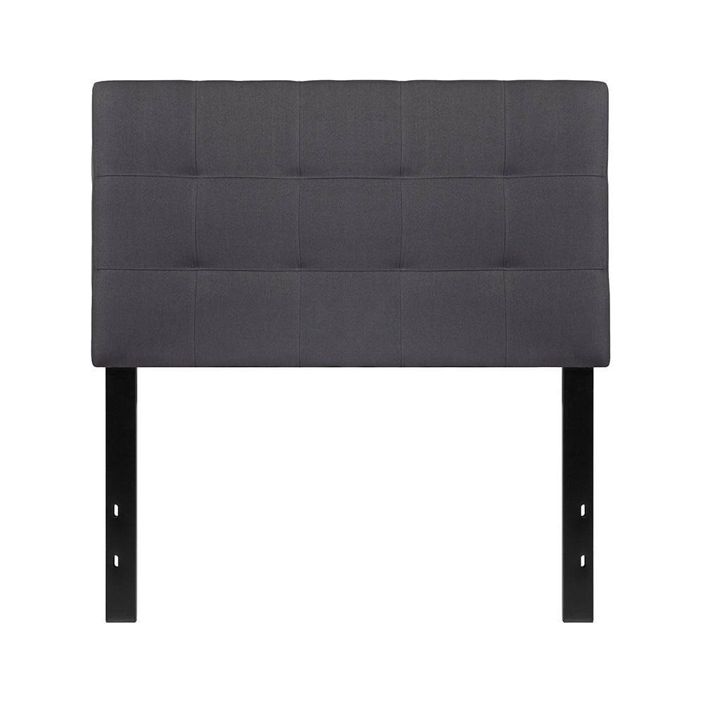 Twin Quilted Tufted Upholstered Headboard Dark Gray - Riverstone Furniture