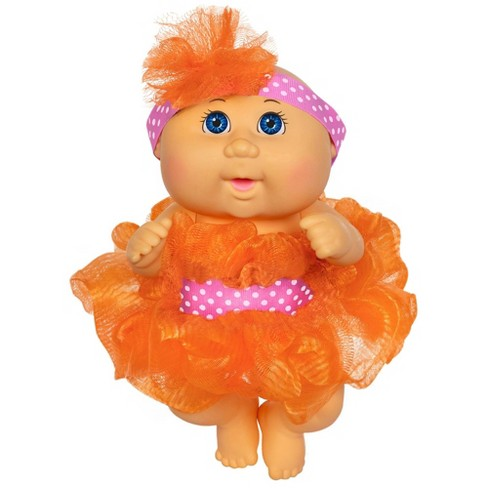 Cabbage Patch Kids Basic Tiny Newborn Scrubby Time - Orange Fashion - image 1 of 3