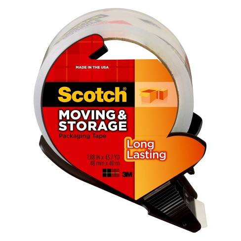 Scotch High Performance Packaging Tape-Packing Tape Dispenser 6 Rolls