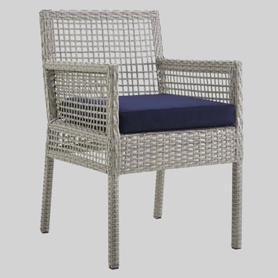 Aura Outdoor Wicker Rattan Dining Armchair - Modway