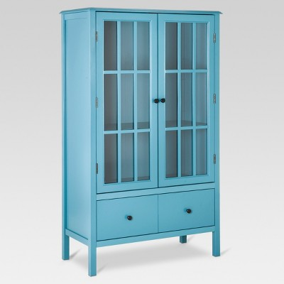 Windham Tall Storage Cabinet with Drawer Teal - Threshold™
