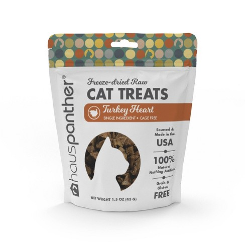 Hauspanther Freeze Dried Turkey Heart Cat Treats - 1.5oz - image 1 of 4