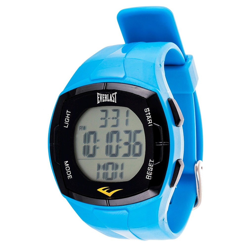Image of Everlast Heart Rate Monitor Watch with Chest Strap Blue, Women's