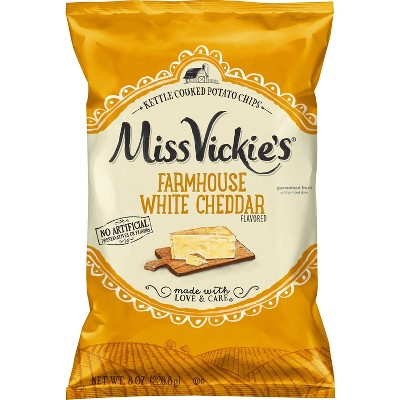Miss Vickies Farmhouse White Cheddar Potato Chips - 8oz