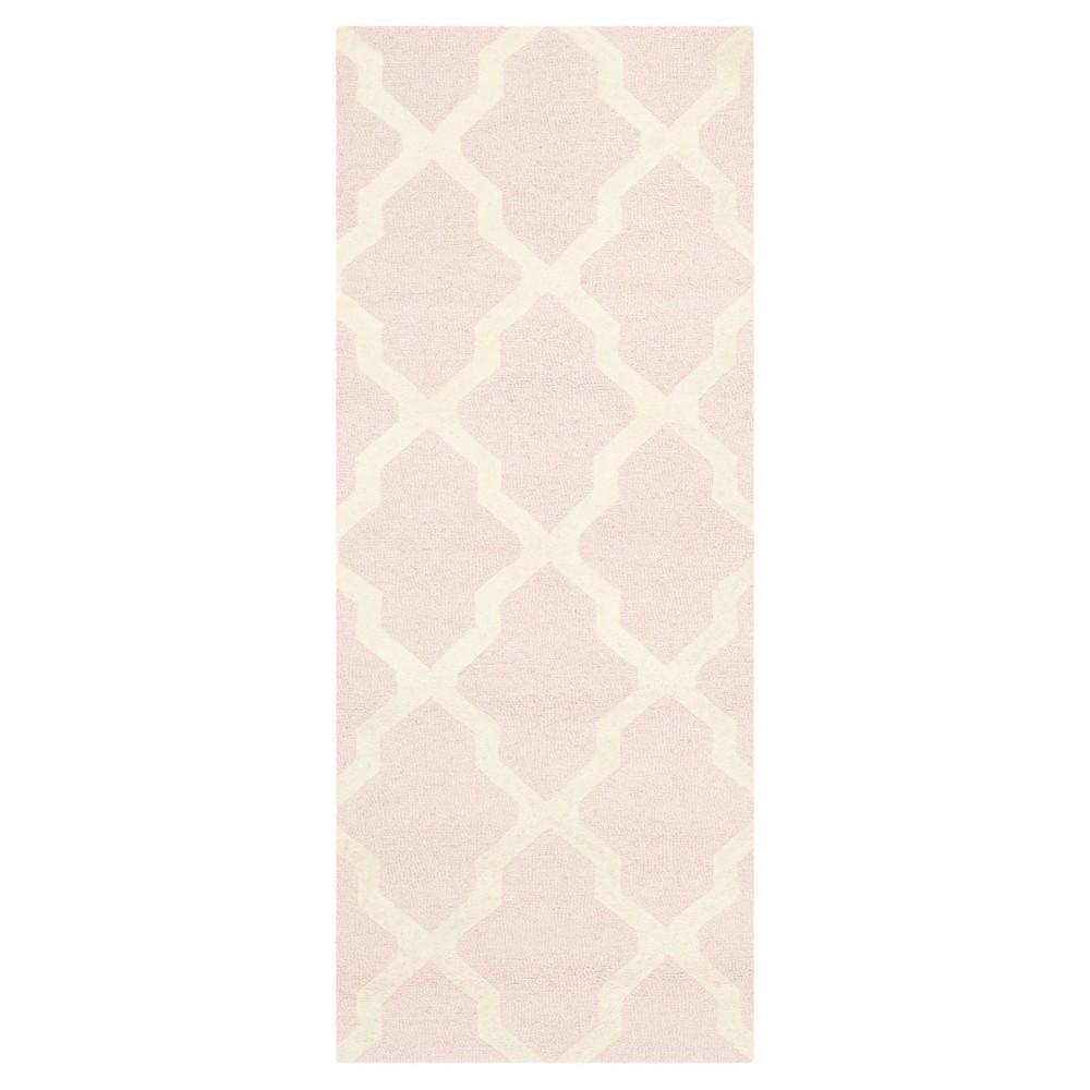 Maison Textured Rug Light Pink Ivory 2 39 6 34 X12 39 Safavieh
