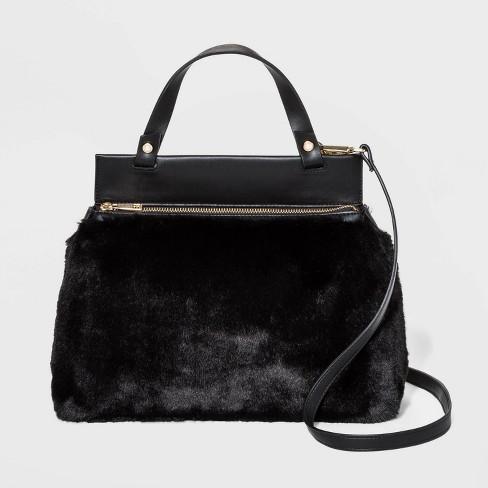 Front Zip Satchel Handbag - A New Day™ - image 1 of 3