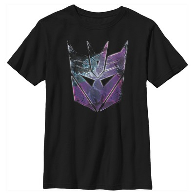 Boy's Transformers Decepticon Rusted Logo T-Shirt