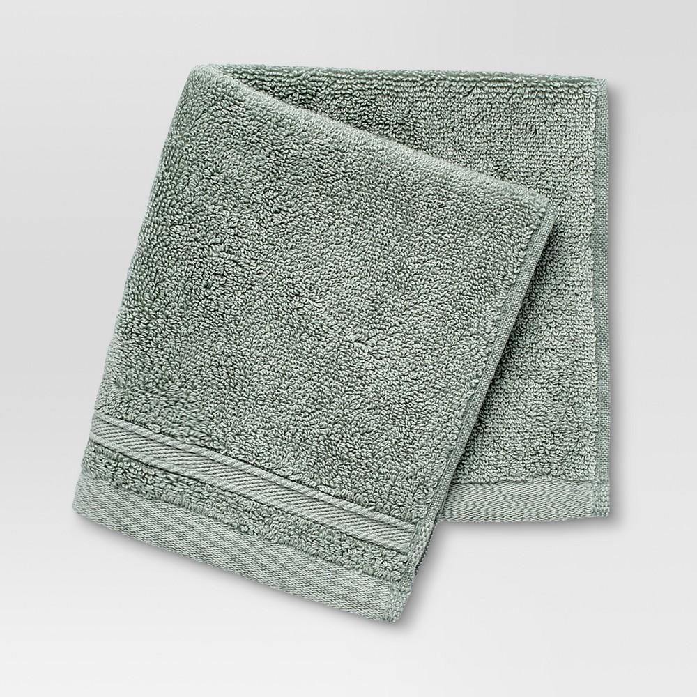 Performance Washcloth Dark Sage Green - Threshold