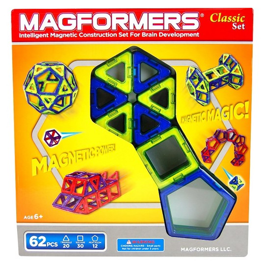 Magformers Magnetic Building Classic Set - 62 Pc image number null