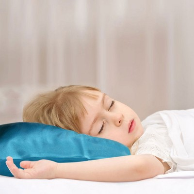 "1 Pc 14""x20"" 19 Momme Silk Envelope Pillow Cases Peacock Blue - PiccoCasa"