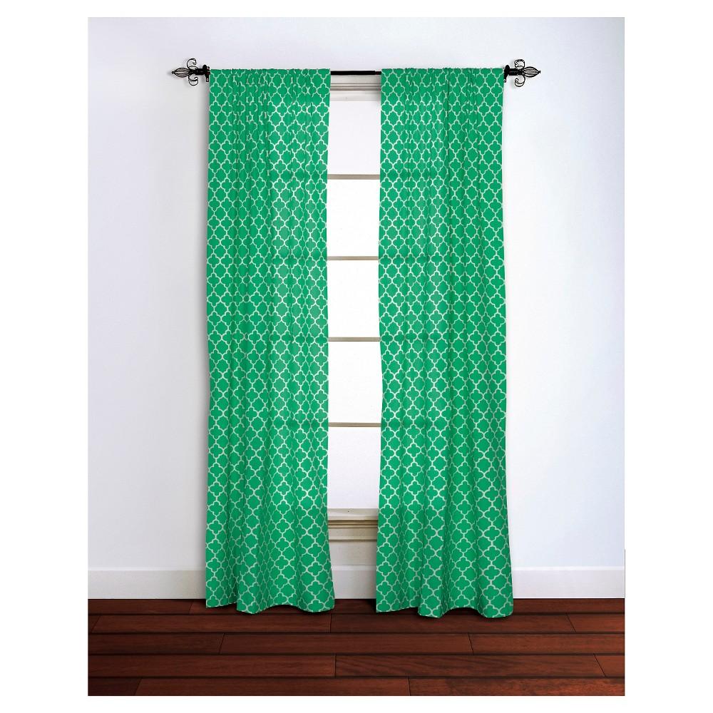 Curtain Panels Rizzy Home Emgrn Quatrefoil Design, Green