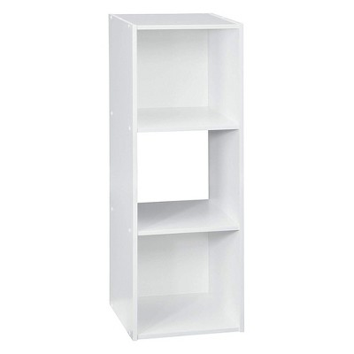 Closetmaid 102400 Decorative Home Stackable 3 Cube Cubeicals Organizer Storage in White with Hardware for Toys, Office, or Home