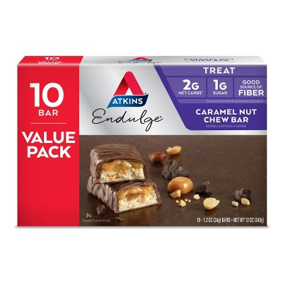 Atkins Endulge Caramel Nut Chew Bar - 10pk