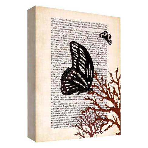 "A Butterfly Story I Decorative Canvas Wall Art 11""x14"" - PTM Images - image 1 of 1"