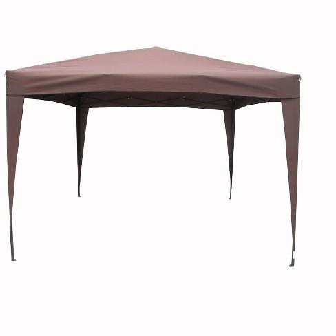 LB International 10' x 10' Trim Pop-Up Outdoor Garden Canopy Gazebo - Brown/Black - image 1 of 1