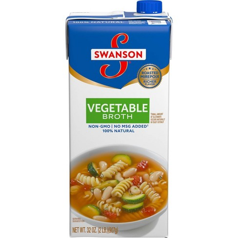 Swanson 100% Natural Vegetable Broth 32oz - image 1 of 4