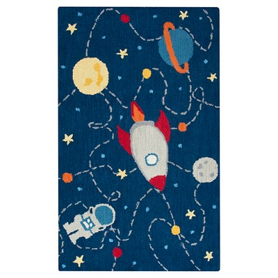 Navy Space Area Rug (3'x5')- Rizzy Home
