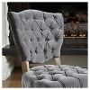 Bates Tufted Dining Chair Set 2ct - Christopher Knight Home - image 3 of 4