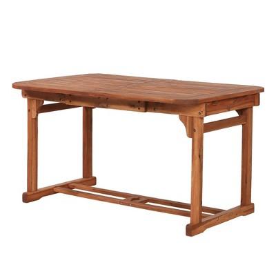 2pk Rectangle Acacia Wood Patio Butterfly Table - Brown - Saracina Home