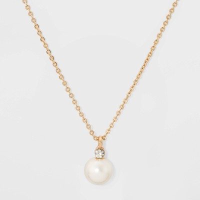Glass Necklace - A New Day™ Pearl