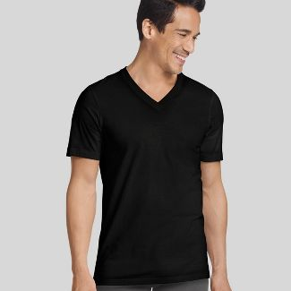 Jockey Generation™ Men's 3+1 Bonus Pack V-Neck T-Shirt Undershirt - Black M