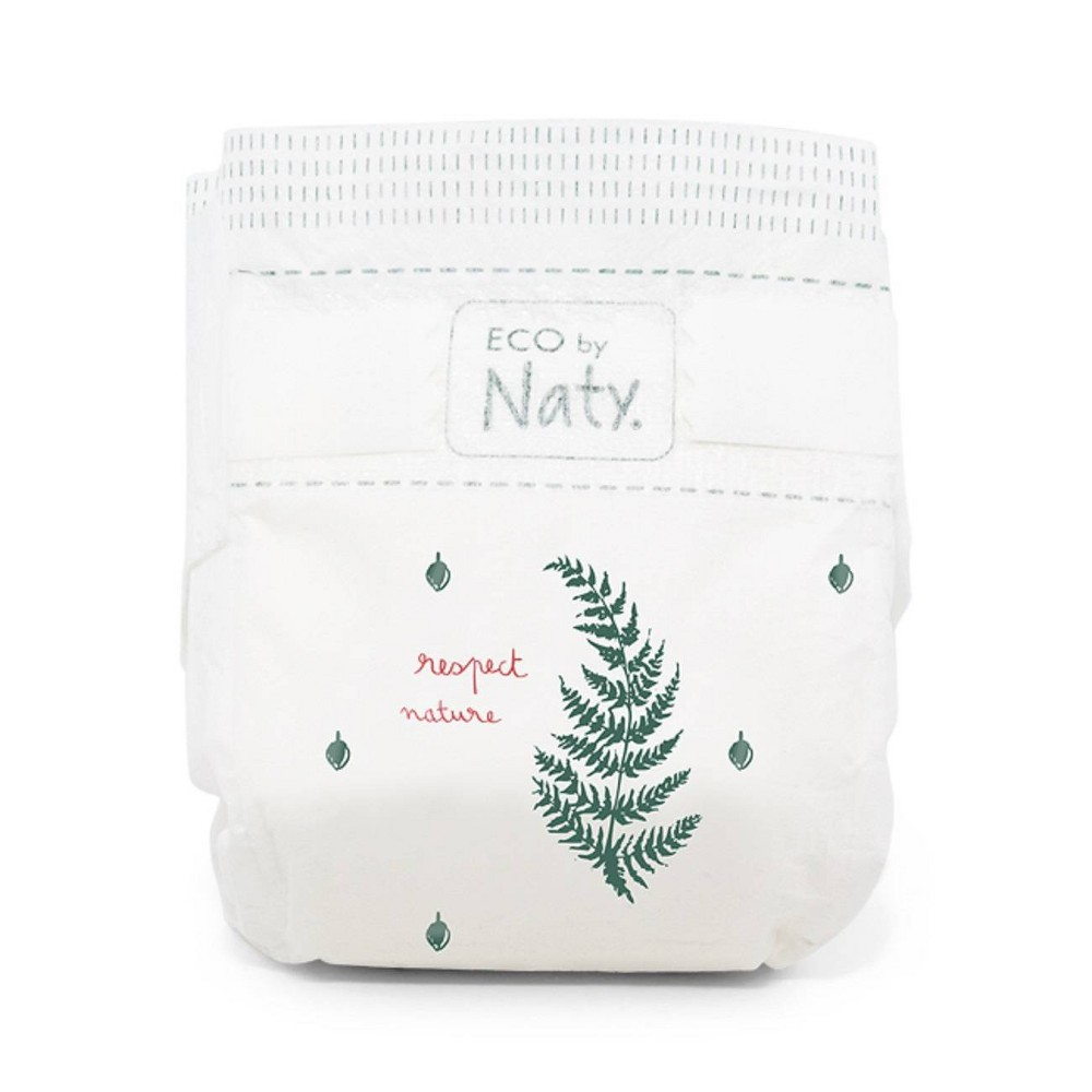Eco By Naty Premium Disposable Diapers for Sensitive Skin - Size 6, 6 packs (102ct), White
