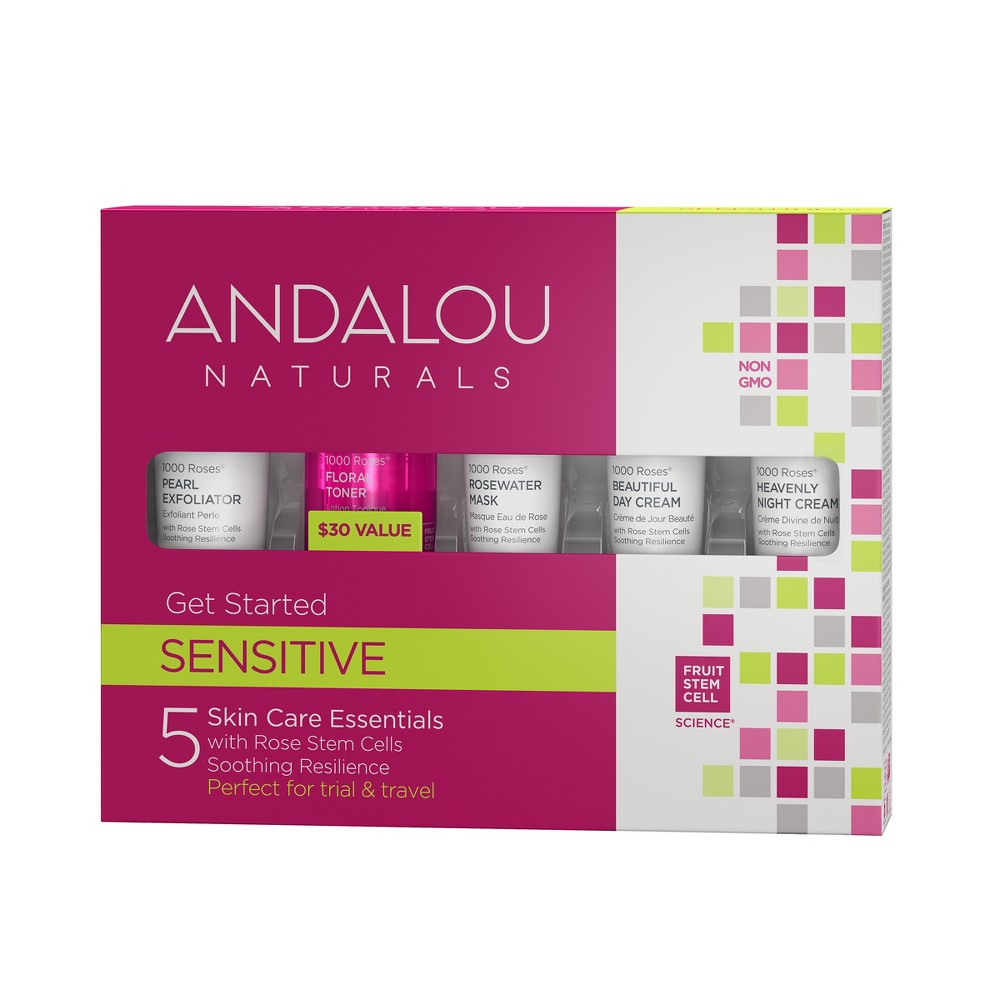 Image of Andalou Naturals 1000 Roses Get Started Kit - 5 Pc