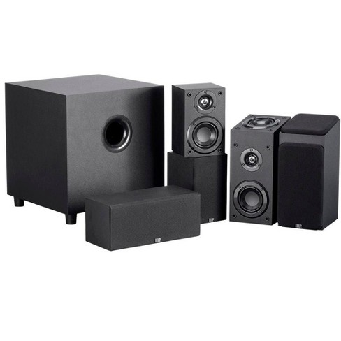 Monoprice Premium 5.1.2-Ch. Immersive Home Theater System - Black With 8 Inch 200 Watt Subwoofer - image 1 of 4