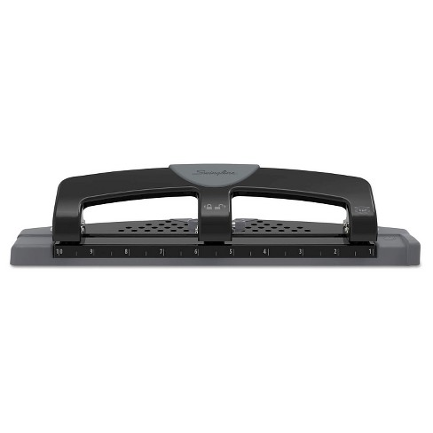 """Swingline® 9/32"""" Holes 12 Sheet SmartTouch Three-Hole Punch - Black/Gray - image 1 of 4"""