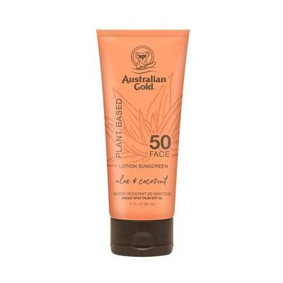 Australian Gold Plant Based Sunscreen Face Lotion - SPF 50 - 3 fl oz