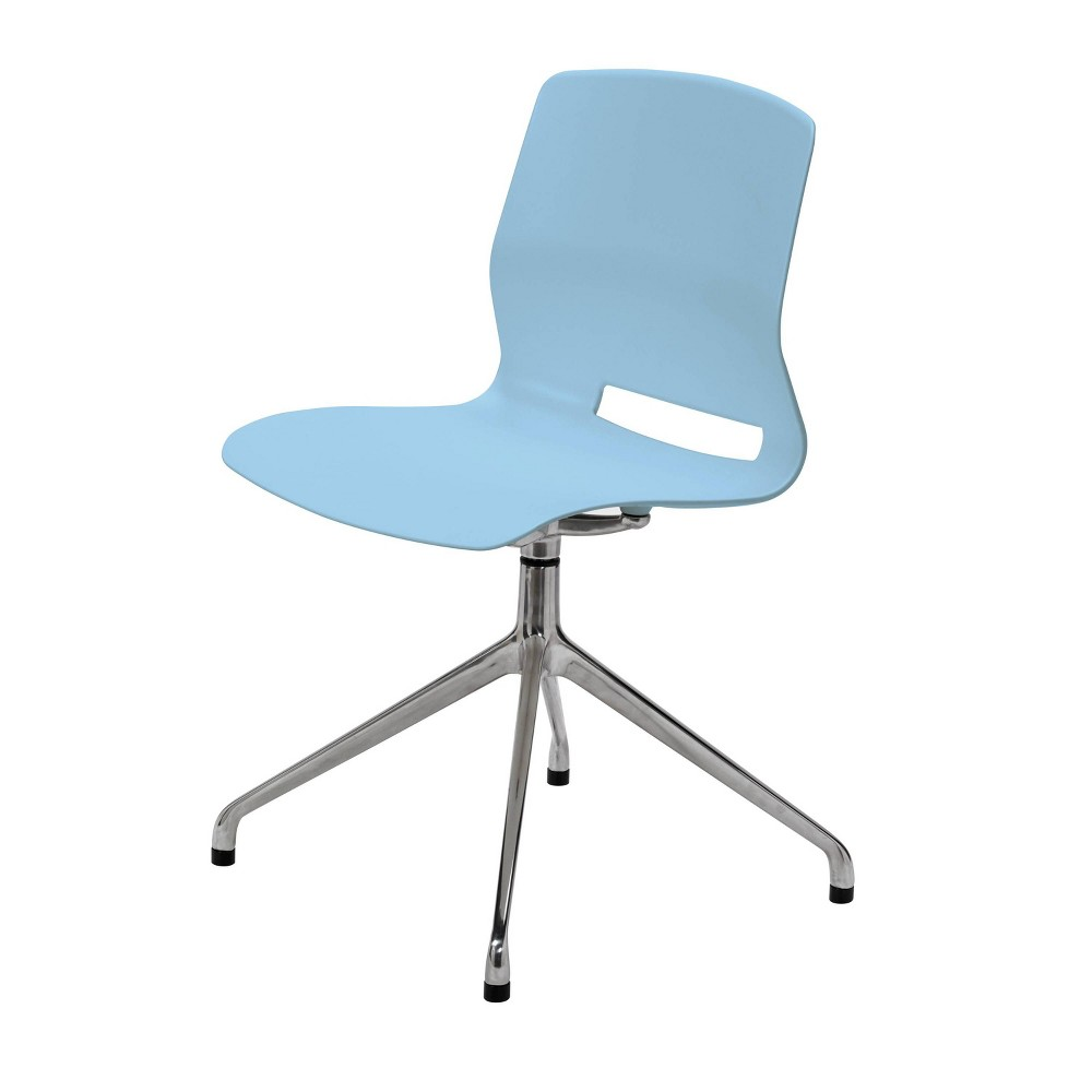Lola Post Swivel Office Chair Sky Blue - Olio Designs